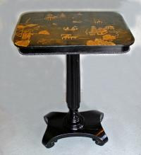 China Trade chinoiserie black lacquered table c1860