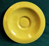 Antique 19thc Chinese yellow Peking glass charger