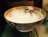 Jean Pouyat Limoges hand painted porcelain bowl c1900