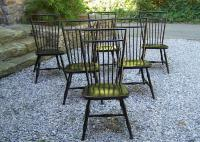 Nichols and Stone vintage black birdcage Windsor side chairs