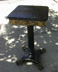 Antique Chinese furniture lacquered sewing stand table