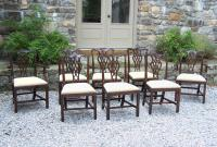 Antique set of 8 mahogany dining chairs Centennial Chippendale c1880