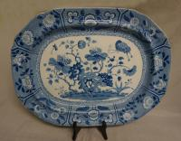 Spode 21 inch blue and white porcelain platter