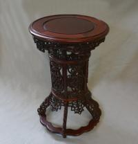 Vintage Chinese export porcelain display stand