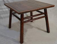 Antique Chinese table with original red wash over pine c1850