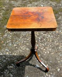 English Regency Period highly figured rosewood candlestand c1820