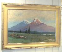 Antique Oil board C. Myron Clark landscape