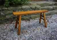 Antique 19th c Chinese splay leg bench