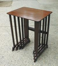 Early English mahogany stacking tables