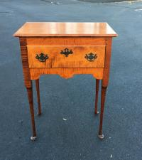 Vintage Eldred Wheeler tiger maple table