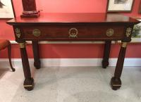 French 2nd Empire mahogany pier table with bronze mounts