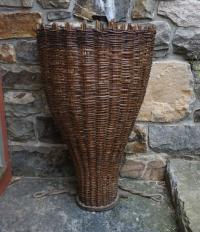 19thc French willow grape harvesting basket