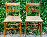 Antique American Curly maple country Sheraton Chairs
