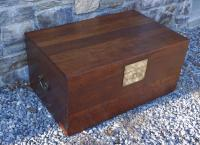 Antique Chinese camphor wood trunk