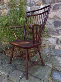 Early square-back Windsor arm chair c1800