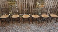 Windsor slat back chairs in original paint c1815