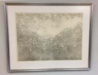 Richard Claude Ziemann etching Maple Leaves and Vines