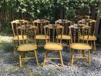 William Capen set of painted Windsor chairs c1830