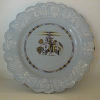 Pair Antique porcelain Bristol Delft Plates