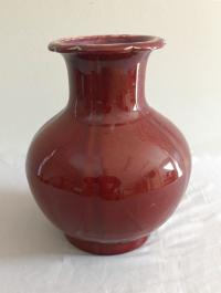 19th century Chinese export porcelain oxblood vase