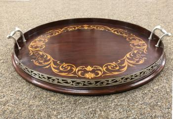 Image of Black Starr and Frost sterling mahogany tray