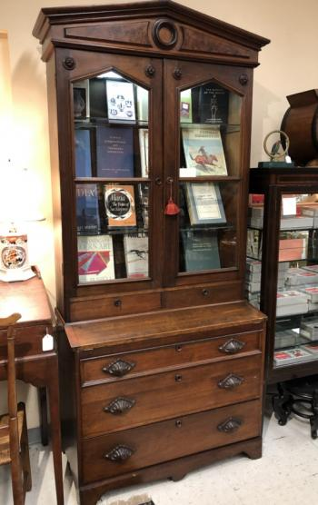 Image of American Victorian black walnut cabinet c1875