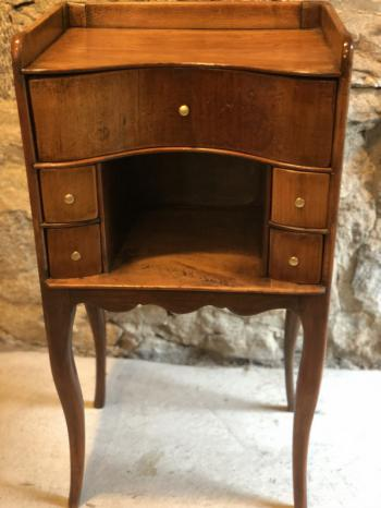 Image of Antique French walnut night stand