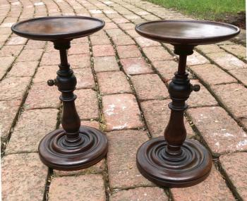 Image of Pair of Victorian wig stands c1860