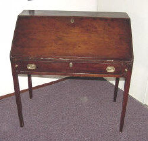 Antique American drop front Chippendale desk
