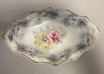 Image of R S Prussia porcelain bowl with tapestry texture