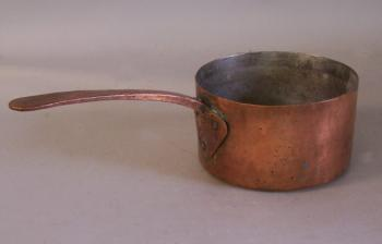 Image of 18th century dovetailed bottom copper pot